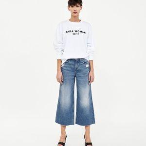 Zara Basic z1975 Vintage Culotte Jeans